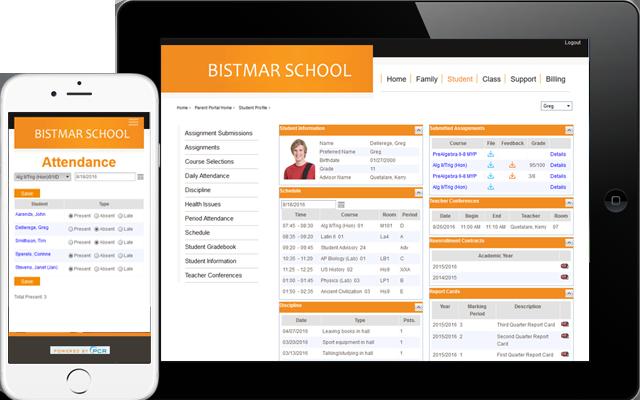 School Information Management System Website Software