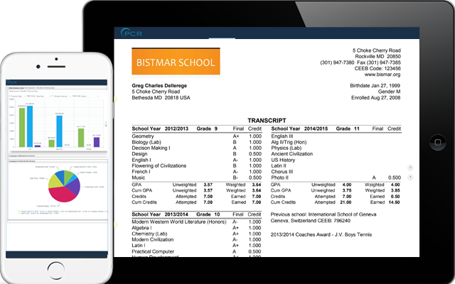 Online reporting and data analytics for school information management system