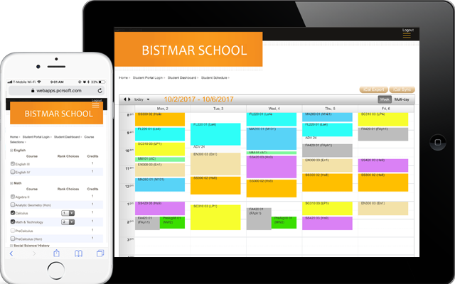 Online scheduling system for k-12 independent and private schools