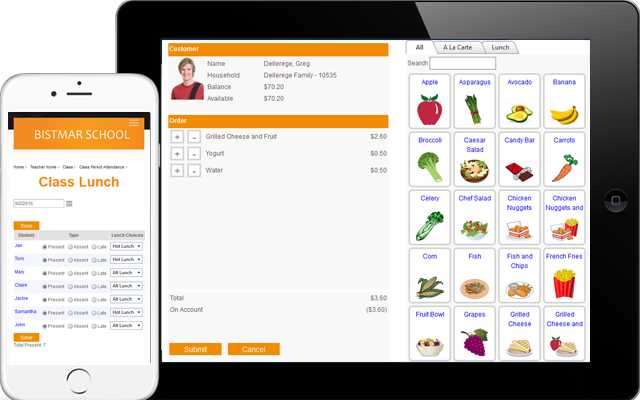 PCR Educator Cafeteria software for independent schools is guaranteed to organize your lunch room.